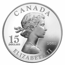 2009 $15 Vignettes of Royalty Series: Queen Elizabeth Sterling Silver Coin