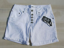 FB SISTER White Stretch Button Fly Shorts Size Small NWT