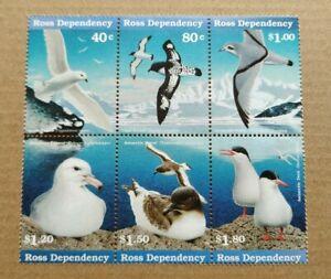1997 New Zealand Antarctic Sea-Bird Ross Dependency 6v Stamps Block Mint NH