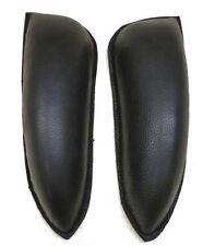 Dressage Saddle XL knee Blocks Rolls Black Brown Velcro Backed Leather Equitek