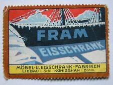 siegel marken FRAM EISSCHRANK MOBEL UND EISSCHRANK-FABRIKEN LIEBAU i/SCHLESIEN