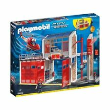 PLAYMOBIL Caserne de Pompiers avec Hélicoptère (9462)