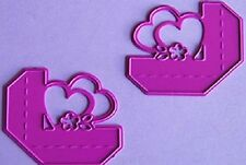 Joy crafts die cutting & embossing stencil-coeur coins l & r - 6002/0128