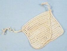 Hand Crocheted Change Purse Vintage Small Off White Doll Bag NICE CONDITION