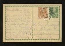 AUSTRIA 1913 UPRATED STATIONERY 5h + 6h CARD to DENMARK