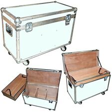 """ATA """"BULLY"""" Supply Trunk 1/4"""" Case w/2 Dividers - Top Tray - Wheels - WHITE CASE"""