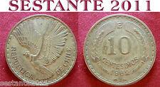 B9 CHILE CILE 10 CENTESIMOS CENTESIMI 1962  KM# 191