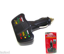 12 Volt LED Battery and Alternator Tester for Cars and Trucks 12 V Test