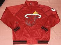 Miami Heat Track Jacket XL Tall Majestic Flaming Logo Red Full Zip XLT NBA