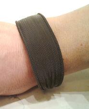 Bracelet Plis argent 925/°°° couleur bronze tricoter semi rigide neuf - 40%