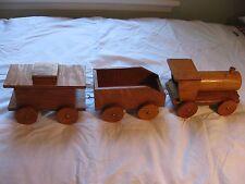 3 Piece Handmade Wooden Train Set