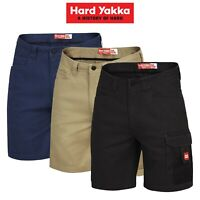 Mens Hard Yakka Legends Shorts Cargo Cotton Work Tradie Cordura Tough Y05066
