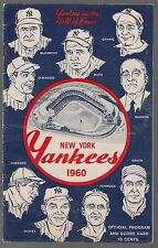1960 Kansas City A's @ Yankees Scorecard Program 7/31/60 Mantle HR Ex 33063