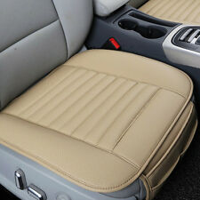 1x Car Beige PU Leather Seat Cover Cushion Pad Bamboo Breathable For BMW BENZ VW