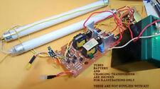 6vdc-7.5 volt dc fluorescent cfl tube driver +charging circuit low battery cut