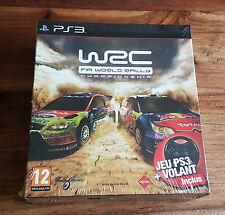 WRC FIA WORLD RALLY CHAMPIONSHIP + VOLANT Jeu PS3 Playstation 3 Neuf Blister