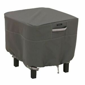 Ravenna Square Patio Garden Ottoman Side Table Cover - Large