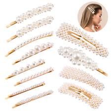 12pcs Pearl Hair Clip Barrettes Fashion Women Hairpins Snap Clips Accessories
