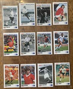 Full Set Match 2000 Legends Football Cards George Best Maradona Rookies Pele ++