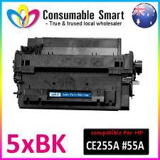 5 Compatible CE255A #55A HP LaserJet P3010 Printer HP Toner Cartridge