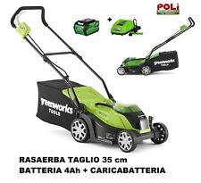 RASAERBA TAGLIAERBA 35 CM A BATTERIA 4AH GREENWORKS 40 VOLT COMPLETA DI TUTTO