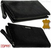ESPRIT Damen Leder Portemonnaie Brieftasche Geldbörse Geldbeutel Geldtasche NEU