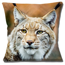 "Lynx Big Cat Close Up Head Photo Print Multicolour 16"" Pillow Cushion Cover"