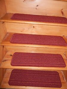 "13 STEP Indoor  Stair Treads Staircase  8"" x 30""  Nylon Carpet soft backing."