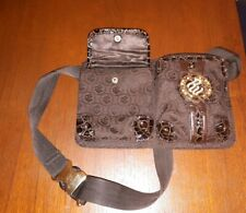 Rocawear Vintage Brown Bum Bag/Fanny pack with rocawear logo print. Used