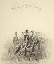DRAGONI RUSSI Russian Dragoons Kazan Vosnessensk - Litografia Originale 1800
