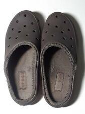 Crocs Clogs Faux Fur Lined Women's 7 Slip on Mules Brown