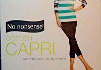 No Nonsense Ladies White Capri Choice Size S-M  New