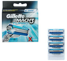 4x Gillette Mach3 Turbo Klingen / Rasierklingen im Blister ohne OVP Umverpackung