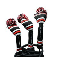 Tour Fit Pom Pom Headcover Double Layer Lined Golf Club Head Cover Wool Knitted