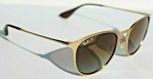 RAY-BAN Erika POLARIZED RB3539 Sunglasses 112/T5 Gold/Brown Gradient NEW Italy