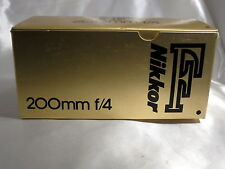 NIKON Nikkor F 200mm f/4 Lens Empty Box (only!) Made in Japan 5403010