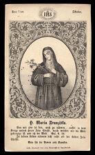 santino incisione 1800 S.MARIA FRANCESCA DELLE 5 PIAGHE