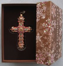 Jay Strongwater Jeweled Cross Ornament Swarovski Elements New In Box