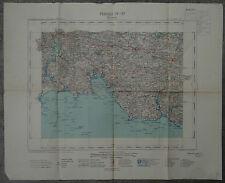 Carte routière Hachette 1926 Finistère Bénodet Quimper Bretagne Breizh BZH