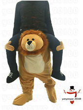 Lion Mascot Carry Costume Me Ride On Piggy Back Party Game Fancy Dress Adults A+