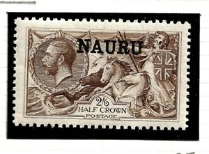 NAURU(Z-850) 1916 SG25 2/6d BRADBURY PALE BROWN O/PRINT VERY FINE UMM / MNH