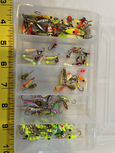 Huge Lot Ice Fishing Jigs Over 125 Lures Great For Perch Panfish Some  Tungsten