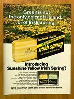 1980 Irish Spring Sunshine Yellow Vintage Print Ad/Poster 80s Pop Art Decor