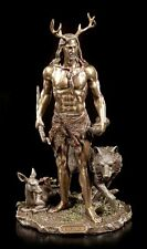 Herne Figur - Der Gehörnte Gott mit Tieren - Veronese Statue Cernunnos Götter