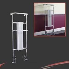 "590mm(w) x 1500mm(h) ""Windsor"" Chrome Tall Traditional Towel Rail Radiator"