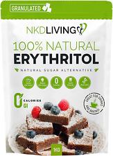 100% naturel érythritol 1 kg 2.2 lb (environ 1.00 kg) granulé zéro calorie sucre...