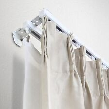 New Double 5 ft Curtain Track Kit: White, Ceiling/Wall Mount