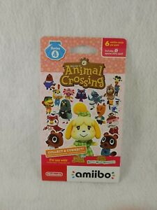 Animal Crossing Amiibo Nintendo Card Pack Series 4 (6 cards) Factory Sealed