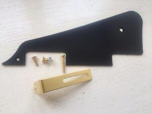 Genuine Epiphone Black Guitar Pickguard with Gold or Chrome Bracket + All Screws