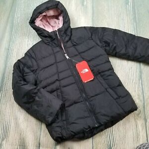 New THE NORTH FACE sz M/L girl's waterproof 550-fill down hooded jacket (JH172)